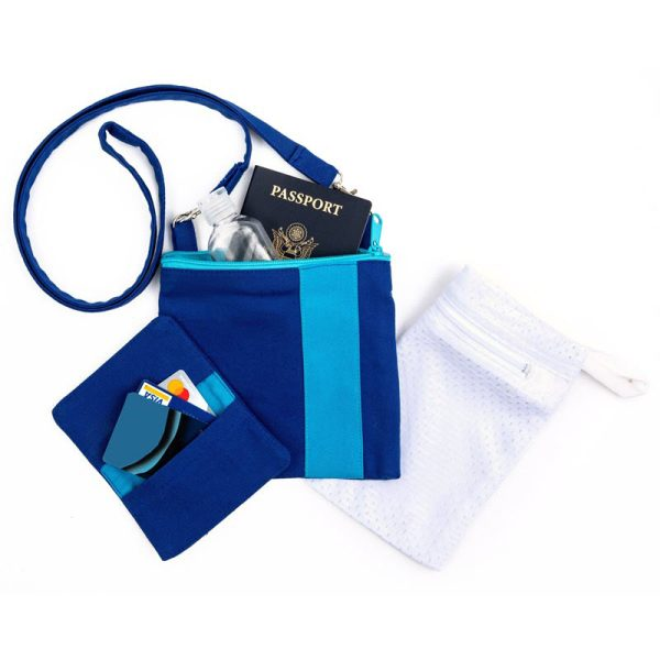 Photo of Mini Essentials Bag Set in blue, front side