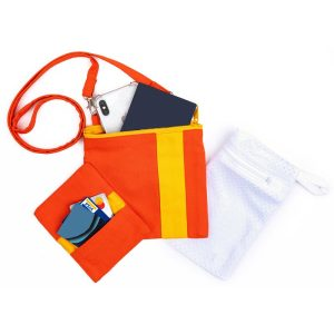 Image of a Mini Essentials Bag being worn over the shoulder