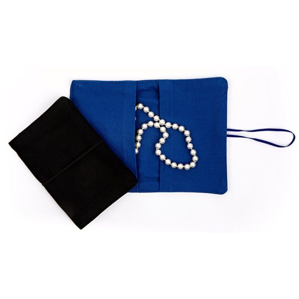 Large Flip Pouch Duo - Blue and Black