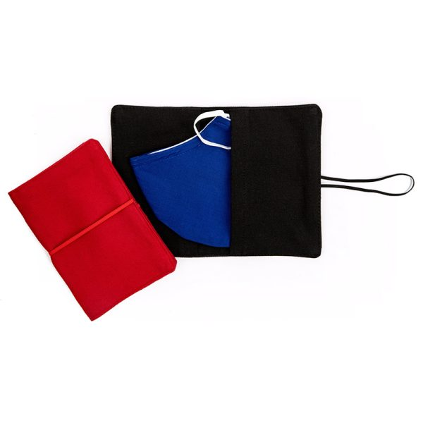 Large Flip Pouch Duo - Red and Black