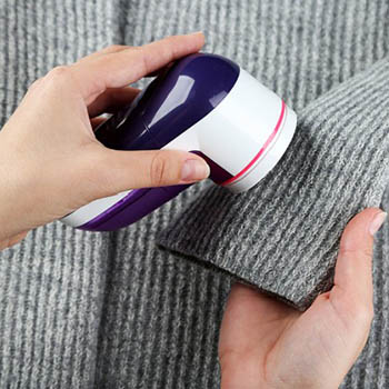 Photo showing clothing care tips in action