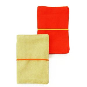 LARGE FLIP POUCH™ Duo (Orange and Tan)