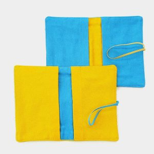 LARGE FLIP POUCH™ Duo (Turquoise and Yellow)