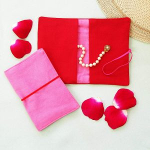 Large Flip Pouch Duo - Pink and Red