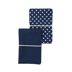 LARGE FLIP POUCH™ Duo (Navy Polka Dot)