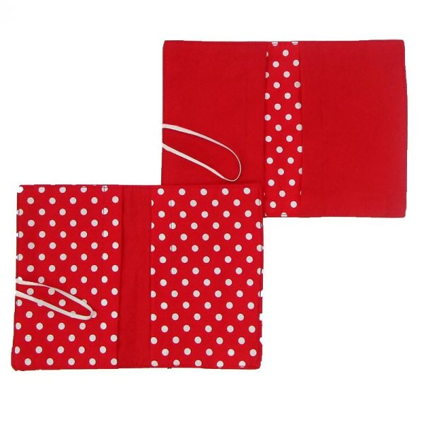 Large Flip Pouch Duo - Red with Polka Dots