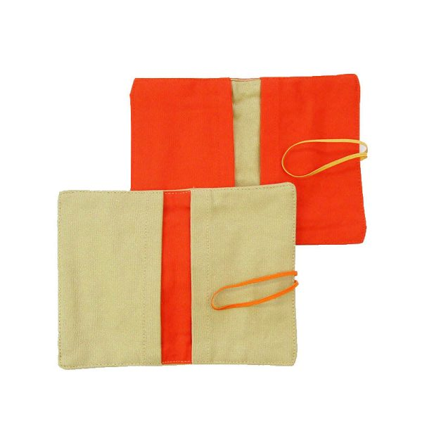Large Flip Pouch Duo - Orange and Tan