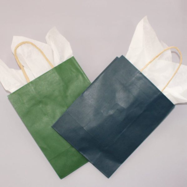 photo of tissue paper inside of a gift bag