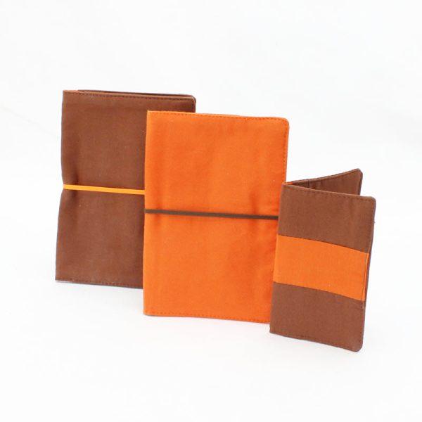Flip Pouch Trio - Brown